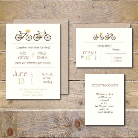 bicycle for two wedding invitations bicycle wedding invitations bicycles bikes bicycle