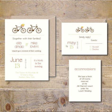 Wedding On Bicycle by Bicycle Wedding Invitations Bicycles Bikes Bicycle