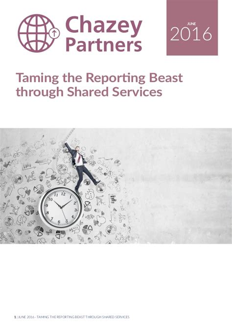 When Tamed The Beast Menaklukkan Sang Dokter taming the financial reporting beast through shared services