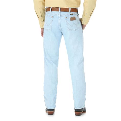 light wash jeans wrangler light wash cowboy cut jeans