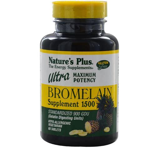 nature s plus bromelain supplement 1500 ultra maximum
