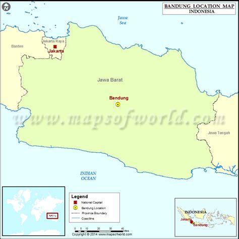 bandung location  bandung  indonesia map