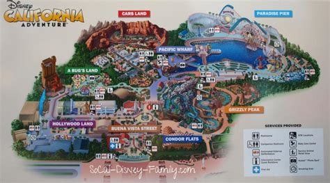 disney california adventure map map of california adventure world map 07
