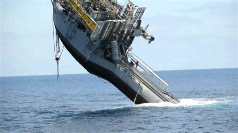 small round boat dan word 355 foot 700 ton ship flips youtube