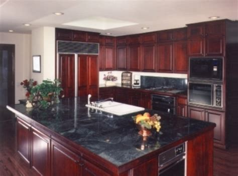 red kitchen cabinets with black glaze dark red kitchen cabinets