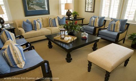 small living room decorating ideas blue and beige color