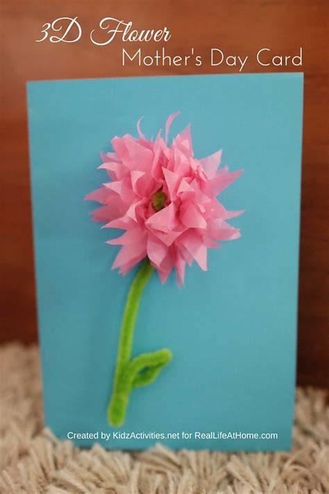how to make 3d mothers day cards 3d flower s day card craft step by step tutorial