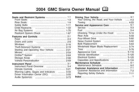 car service manuals pdf 2006 gmc savana 1500 parking system 2004 gmc sierra owner s manual car maintenance tips