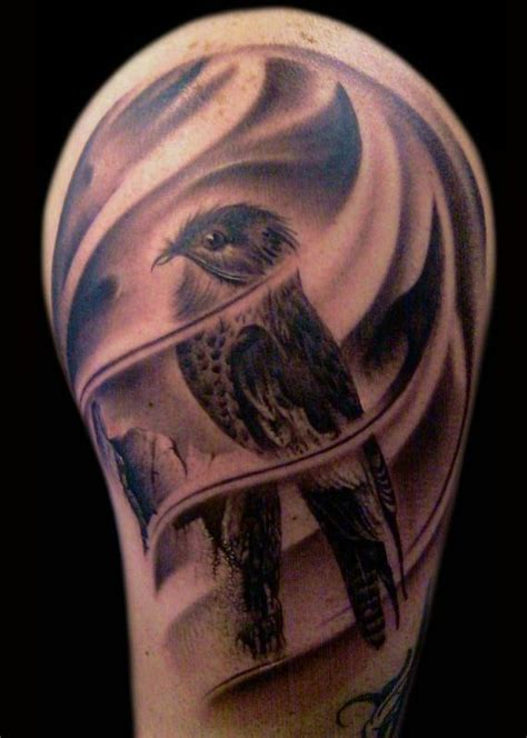 black and grey tattoo artists usa black and grey bird tattoo on arm by francisco sanchez