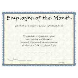 Employee Of The Month Criteria Template by Employee Award Certificate Templates 2017 2018 Car