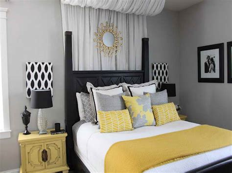 Grey Yellow Bedroom by Yellow And Gray Bedroom Decorating Ideas Decor