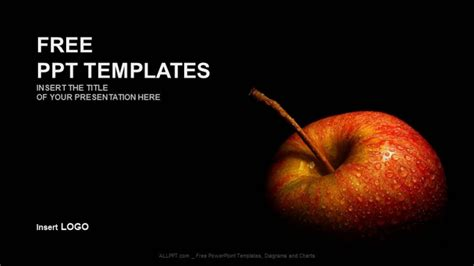 apple ppt template flesh apple food ppt templates
