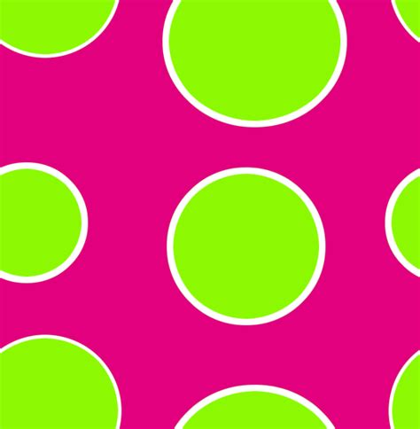 pink and green polka dots lime green dots fluroscent