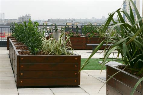 Roof Planters by Imperial Wharf Project Page Planters Seating For Roof
