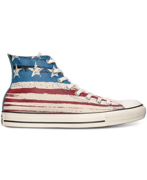 american flag sneakers lyst converse s chuck high usa flag print