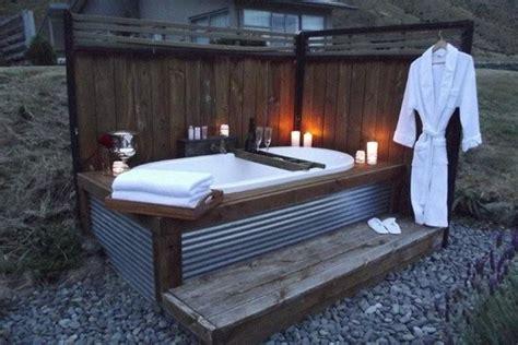 Outside Bathtubs by Simple Outdoor Bath Indoor Outdoor Spa