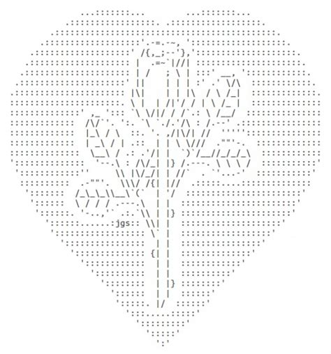 heart pattern with keyboard symbols valentine ascii text art hearts hubpages
