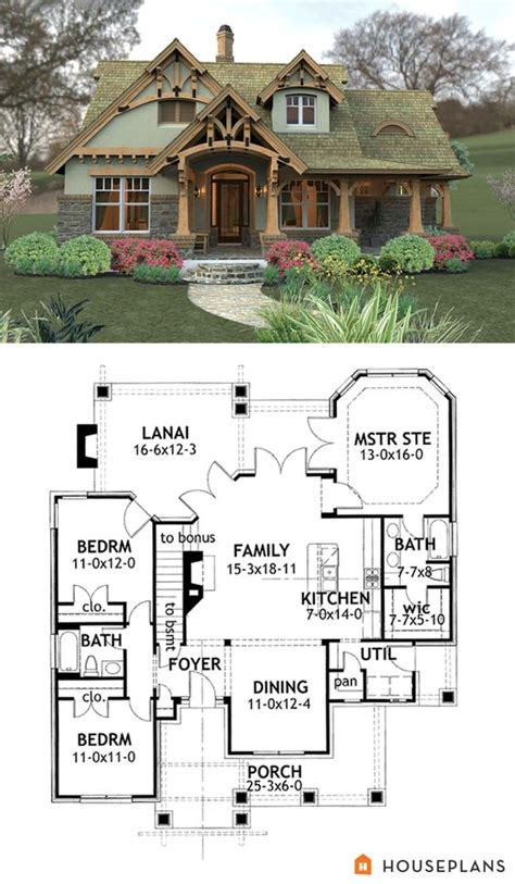 small mountain home plans craftsman mountain house plan and elevation 1400sft
