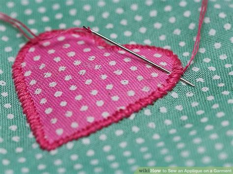 how to sew applique how to sew an applique on a garment 13 steps with pictures