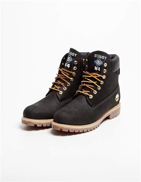 stussy timberland 6 boot black tr 200 s bien