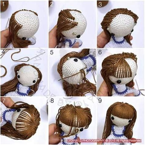 amigurumi hair 17 best images about amigurumi doll hair styles on