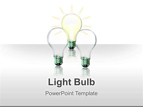 lightbulb image editable powerpoint illustrations