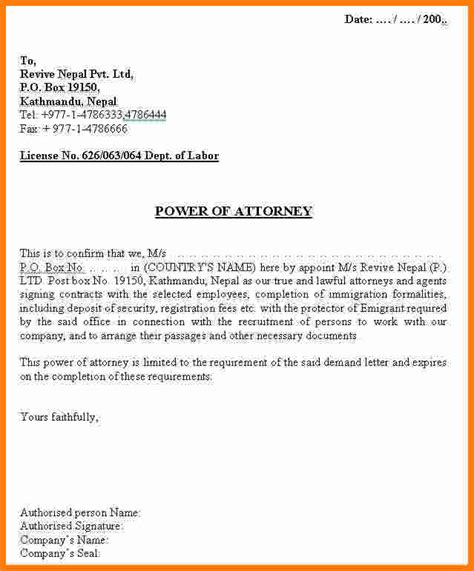 general power of attorney forms authorization letter tagalog sample