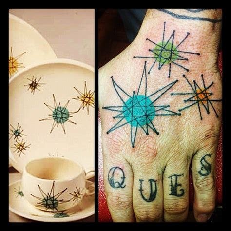 retrokc tattoo tattoos franciscan starburst dishware