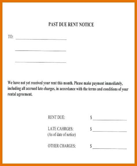 rent free letter template