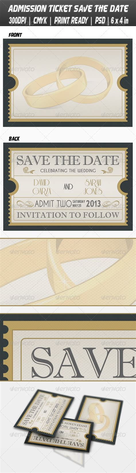 movie ticket free save the date templates 187 dondrup com