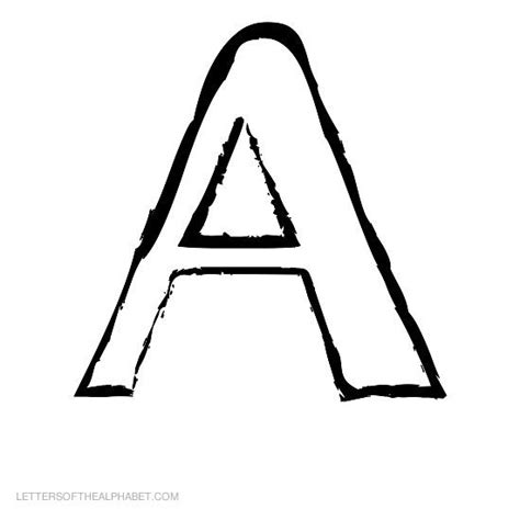 printable hollow alphabet letters letters of the alphabet for kids 1 26 abc alphabet letter