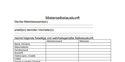 Mieterselbstauskunft Vorlage Pdf by Fein Eidesstattliche Erkl 195 164 Rung Formular Ideen Bilder