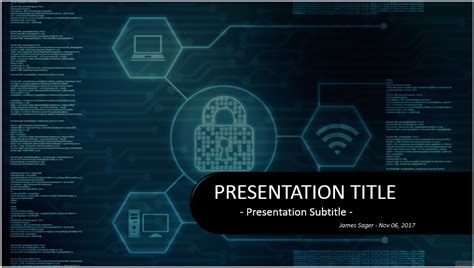 Cyber Security Presentation Free Download Hooseki Info Cyber Security Powerpoint Template Free