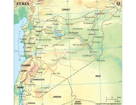 Syiria Green buy syria political map green