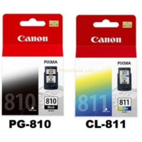 Catridge Tinta Canon 811 Warna canon pg 810 811 black color original ink cartridge 1set heng computer center
