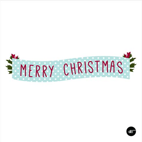 Merry Christmas Banners Happy Holidays Merry Banner Template