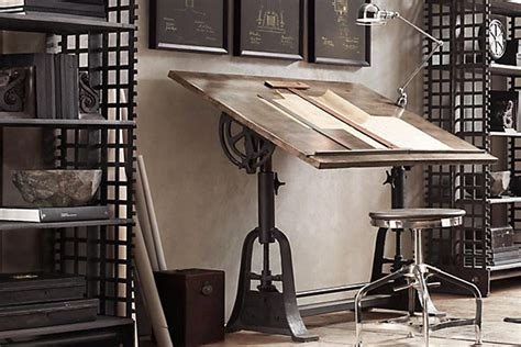 home design restoration hardware 12 industrial desks you ll want for your home office