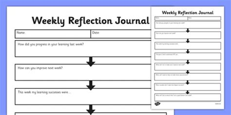 our health journal a co created wellness resource books weekly reflection journal weekly work reflection journal
