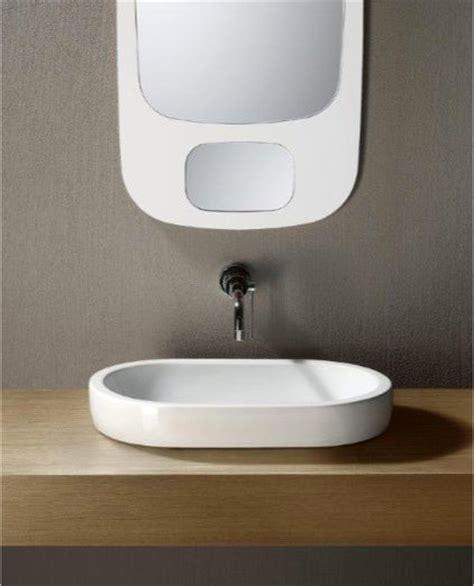 flat bathroom sinks flat sleek oval shaped ceramic vessel sink by gsi