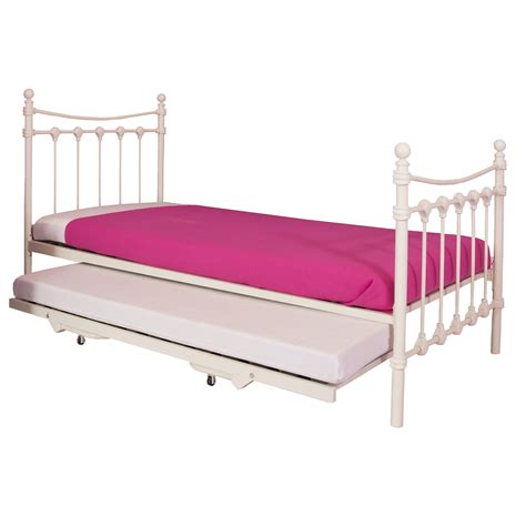 metal trundle bed frame santa fe metal bed frame with trundle next day select day delivery