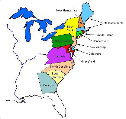 colonie map 13 colonies originals and maps on pinterest