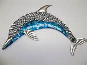 dolphin wall decor beautiful aqua silver dolphin indoor outdoor metal wall
