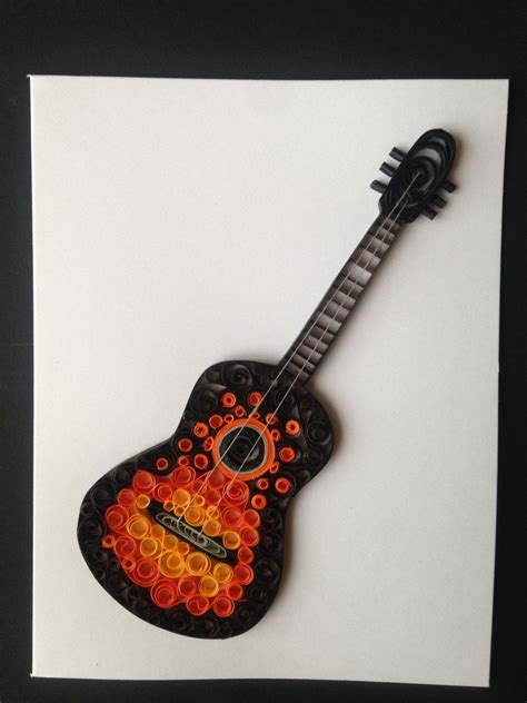 Quilling Guitar Tutorial | popular items for birthday card quill on etsy quilling