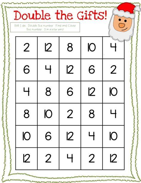 printable dice math games free 3 dice christmas math games free speech pinterest