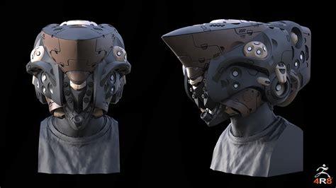helmet design with joseph drust keyshot for zbrush