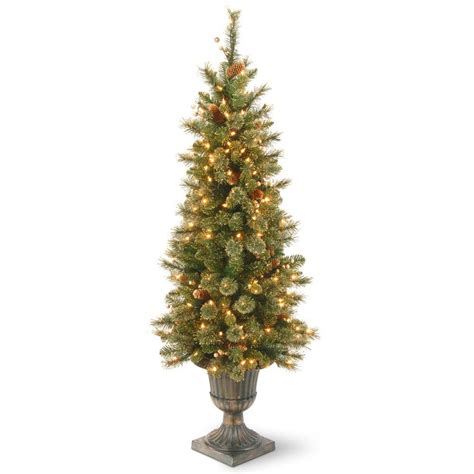 national tree company 4 ft glittery gold pine entrance