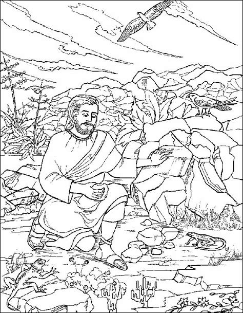 coloring pages jesus tempted desert jesus is tempted in the desert coloring pages