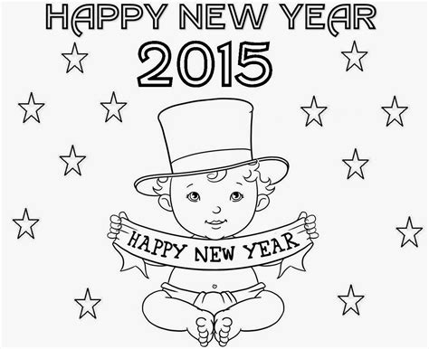 coloring pages for new years 2015 colour drawing free hd wallpapers happy new year 2015
