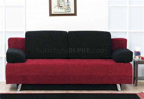 modern pillows for sofas two tone fabric modern convertible sofa bed w pillows