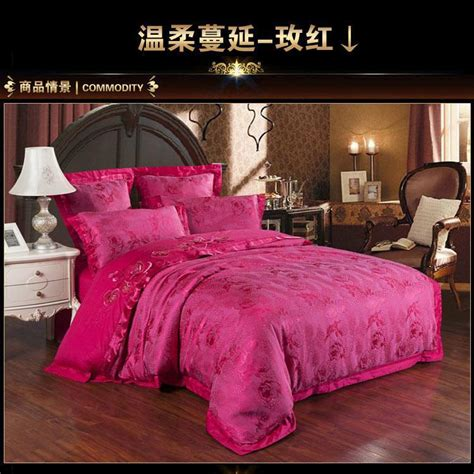 pink comforter set queen luxury designer hot pink satin jacquard bedding comforter